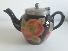 RARE TUBLINED  ROYAL STANLEY JACOBEAN WARE POMEGRANATE TEAPOT - PERFECT