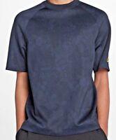 Nike NSW Moc Lux Shirt Mens Small S Dri Fit Shirt Obsidian Gold Short Sleeve