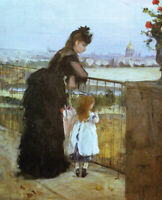 Fine Art Print on Canvas Giclee Repro Woman and Child at Balcony Berthe Morisot