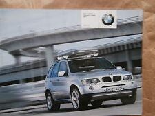 BMW X5 E53  Original Teile & Zubehör Prospekt 2003 Catalogue Katalog Brochure