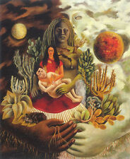 """The Love Embrace of the Universe  by Frida Kahlo  14""""  Paper Print Repro"""