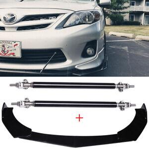 For Toyota Corolla SE XSE Front Bumper Lip Splitter Chin Spoiler + Strut Rods HG