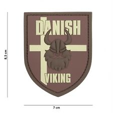 Danish Viking braun #13078 Patch Klett Abzeichen Airsoft Paintball Softair