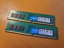 Crucial 32GB (2 x 16GB) PC4-19200 (DDR4-2400) Memory (CT2K16G4SFD824A)