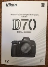 NIKON D70 Manual - Printed & Professionally Bound Size A5 - NEW 208 Pages