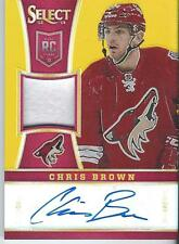 2013-14 Panini Select hockey CHRIS BROWN #249 10/10 - Jersey Autograph - Prizm