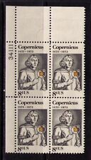 US USA Sc# 1488 MNH FVF PLATE # BLOCK Copernicus Poland Astronomer Sun Earth