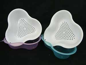 Kitchen 2 in 1 Fruit and Vegetable Drain Strainer Colander Detachable bowl - New