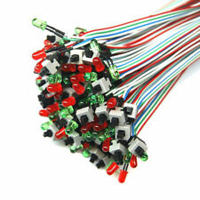 5 X ATX PC Computer Motherboard Power Cable Switch On/Off/Reset with LED USA