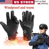 Windproof Winter Warm Fleece Gloves Touch Screen Cycling Ski Mittens Men Women