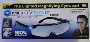 Mighty Sight Deluxe LED Magnifying Eyewear Glasses: As Seen on TV - New