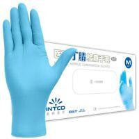 100 Pcs Disposable Nitrile Glove Powder Free Examination Protective Gloves