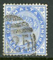 Malta 1885 QV 2½p Ultramarine Scott #11 VFU  A334 ⭐⭐⭐