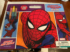 Marvel Spiderman Web Slinging Artist Pad Childrens Activity Crayons Stickers