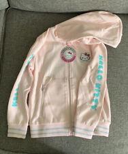 Sanrio Hello Kitty Shoe Palace Pink Kawaii Hooded Sweatshirt Child Medium NWT