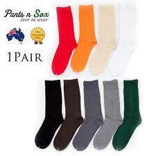 Crew Business Socks Mens Womens Black White Grey Green Dark Grey 2-8 6-11 11-14