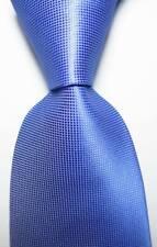 New Classic Checks Blue JACQUARD WOVEN Silk Men's Tie Necktie