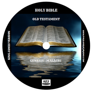 KJV AUDIO BIBLE, COMPLETE KING JAMES VERSION 66 BOOKS ON 2 MP3 CD's. FREE SHIP