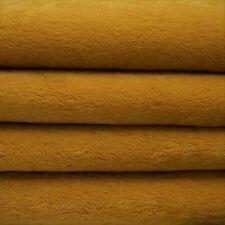 "1/6 yd Vis1 Dark Gold Intercal 6mm ""Flat"" Med. Dense German Viscose Fur Fabric"