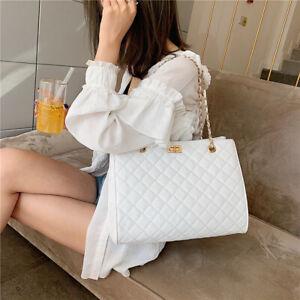 Women Shoulder Bag Pu Leather Chain Crossbody Designer Luxury Large Capacity