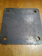 200mm x 200mm x 10mm Foro 15mm Rotondo Quadrato DISCO CERCHIO lamiera di acciaio dolce Anello
