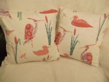 "CALICO DUCKS BY ARTHUR SANDERSON 1 PAIR OF 18"" CUSHION COVERS - DOUBLE SIDED"