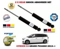 FOR CITROEN C4 GRAND PICASSO 2013 > NEW 2x REAR SHOCK ABSORBER SHOCKER SET
