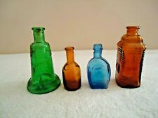 """Vintage Mixed Lot Of 4 Miniature Glass Bottles """" Beautiful Collectible Lot """""""
