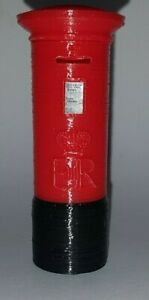 1:24 scale, RED Pillar Box. with royal crest and notice. 67mm tall. 3D printed