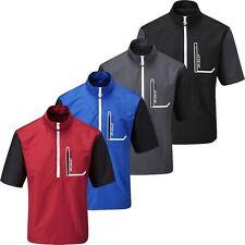 56% OFF RRP Stuburt Cyclone Water Repellent Short Sleeve Mens Golf TOP Windshirt