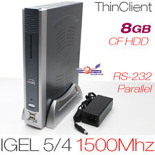 1500mhz MINI PC COMPUTER 512mb ddr2 di RAM 8gb CF con rs-232 DVI PARALLEL PCI 12v