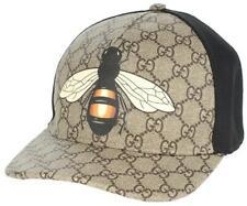 "NEW GUCCI GG SUPREME CANVAS ""BEE"" PRINT BASEBALL HAT CAP UNISEX 59/LARGE"