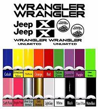 Jeep Decal Wrangler X Unlimited Hood Fender Window Door Vinyl Sticker Tj Yj Jk