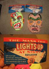 halloween mask (1  item unused) 1960s Atomic bomb Mad Scientist 3-D robot MOC