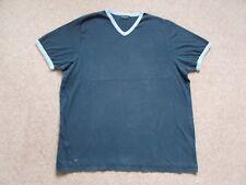 Mens Burton Navy Blue V-Neck T-shirt Cotton XL