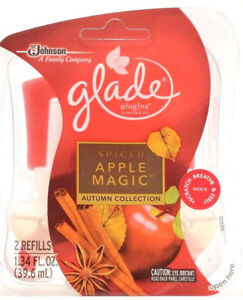 1 Pack Of 2 Glade Plugins Spiced Apple Magic Autumn Collection Scented Oil