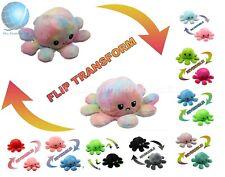 Octopus Mood Toy Reversible Emotion Flip Kid Animals Double-Sided Plush Toy Doll