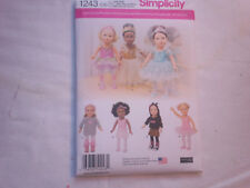 Simplicity Sewing Pattern #1243 - 18  inchDoll clothes
