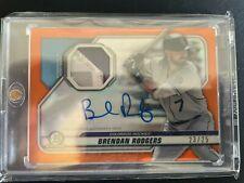 2020 Bowman Chrome Brendan Rodgers AUTO Orange Relic Patch /25 Rockies #BCAR-BR