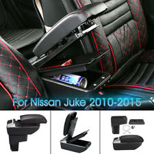 Black Central Armrest Console Cup Box Storage Handrails For Nissan Juke