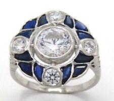 Markenlose-Ringe mit Saphir Synthetisch hergestellte echten Edelsteinen