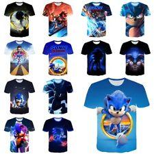 Kids Boys Girls Sonic The Hedgehog Short Sleeve 3D T-shirt Game Gift Tee Tops AU