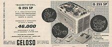 W1858 Magnetofono G 255 SP - Geloso - Pubblicità del 1958 - Vintage advertising