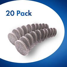 20x Round Furniture Felt Pads 25mm Chair Floor Protectors for Hardwood 5mm Thick