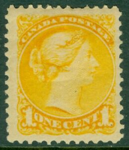 EDW1949SELL : CANADA 1886 Sc #35 Yellow. F-VF, Mint OG HR. Small faults. Cat
