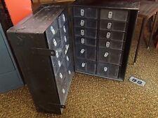 Vtg Military Metal Medic Storage Drawer Case Army Field Equip Trunk Locker Chest
