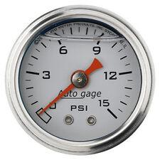 "Auto Meter 2175 Autogage Series Inline 0-15 Psi Fuel Pressure Gauge 12175 1/2"""