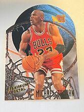 1995-96 Fleer Metal Maximum Metal Die-Cut #4 Michael Jordan Chicago Bulls HOF