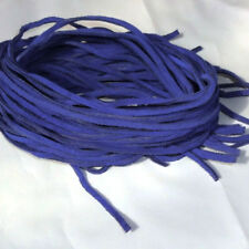 """16 Leather Strips 35"""" Suede leather Lace,Lacing, Blue"""