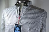 English Laundry Shirt John Lennon Imagine Art White + Black Stripe S SMALL NEW